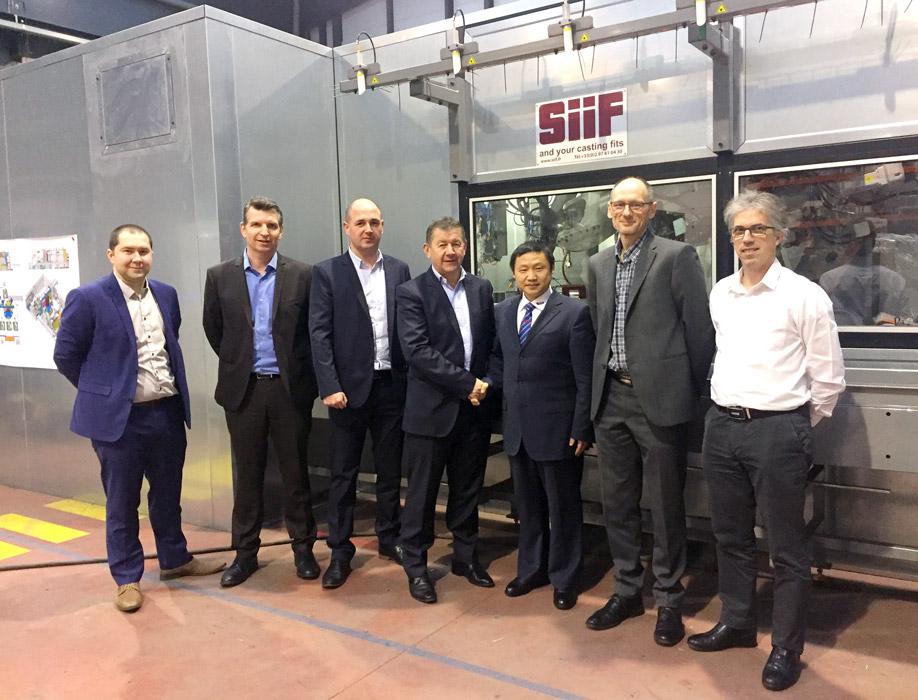 Benjamin Lei et l'équipe commerciale SiiF